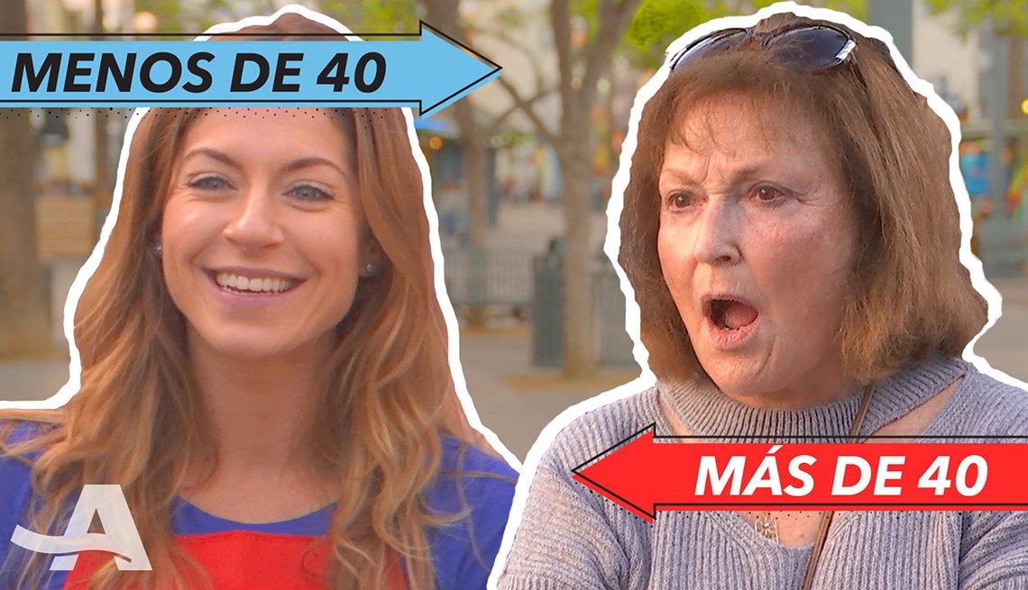 Mujer menos de 40 y mujer de más de 40