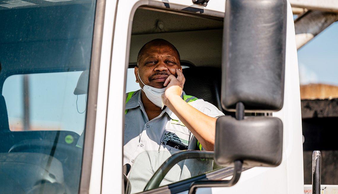 Calvin Taylor, empleado de servicios de higiene en Detroit