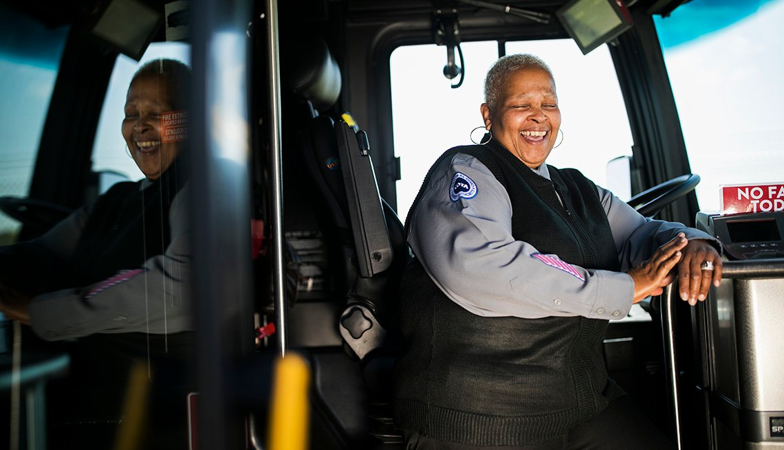 smiling bus driver marcia woods johnson