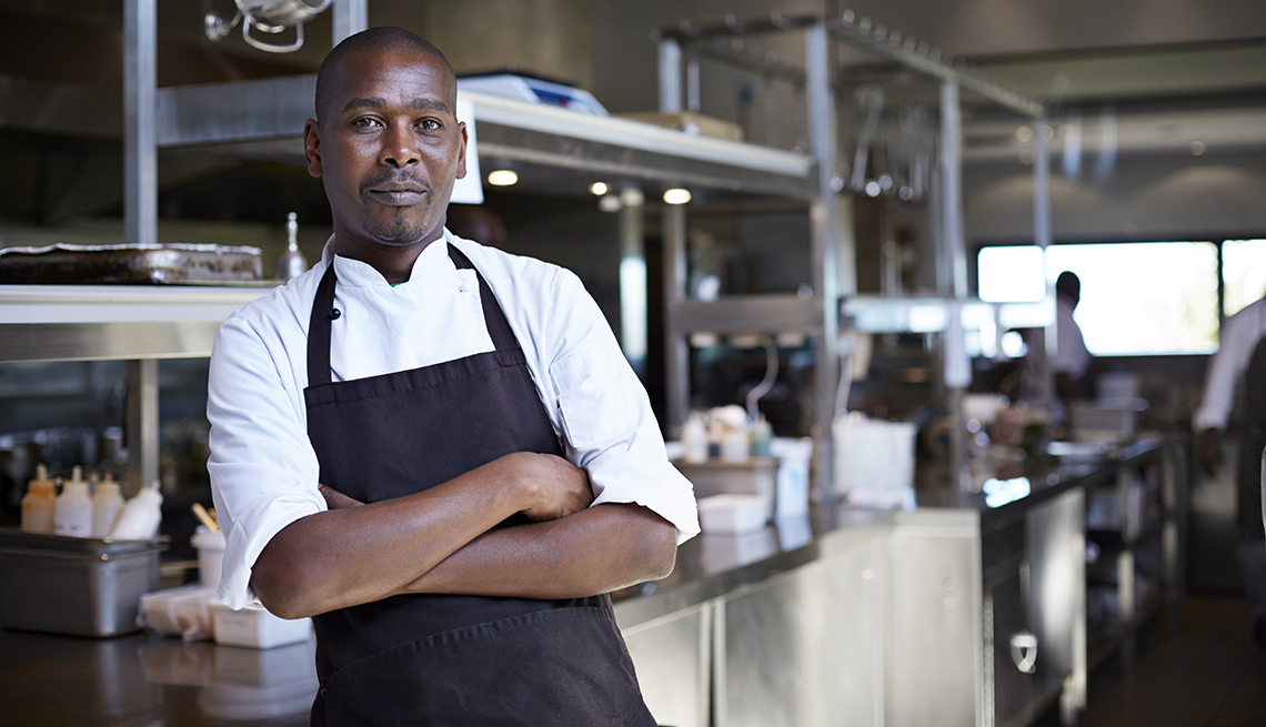 male chef at restaurant