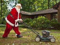 Bob Dunn, de Dover, Delaware, trabaja como Santa Claus, durante las fiestas de fin de año.