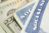 Social Security cards and U.S. dollars for COLA in 2012