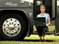 Jill Ferrer escribe un blog del mundo de las casas rodantes desde un estacionamiento en Clermont, FL, febrero de 2011.