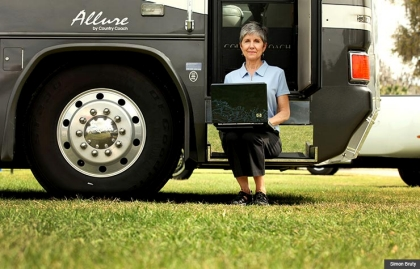 Jill Ferrer writes a blog about the RV world from the well of her RV parked for the moment in Clermont, FL in February 2011.