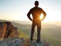 Man on top of mountain, Emilio Estefan true to yourself