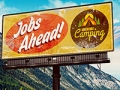 Vaya que anuncia trabajos en una zona de campamento - Trabajos como campistas