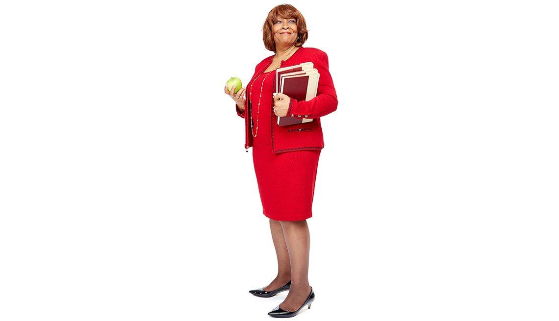 Doris McGhee Collins continúa trabajando después del retiro