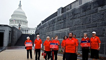 AARP volunteers delivered more than 200,000 petitions along with a report entitled
