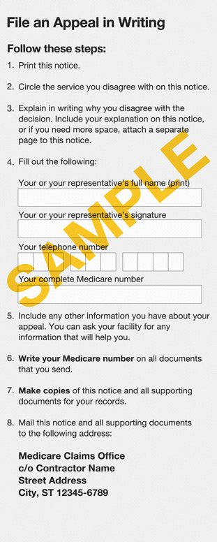 Medicare Part B appeal form