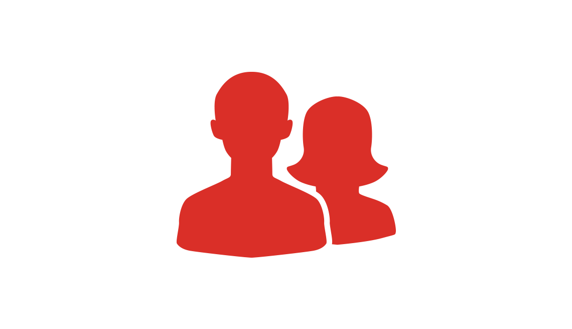 Icon of generic man and woman