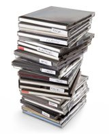 stack of music cds
