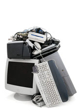 pile of computer equipment