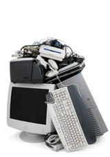 pile of computer equipment