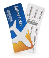 airplane tickets bought with frequent flyer miles