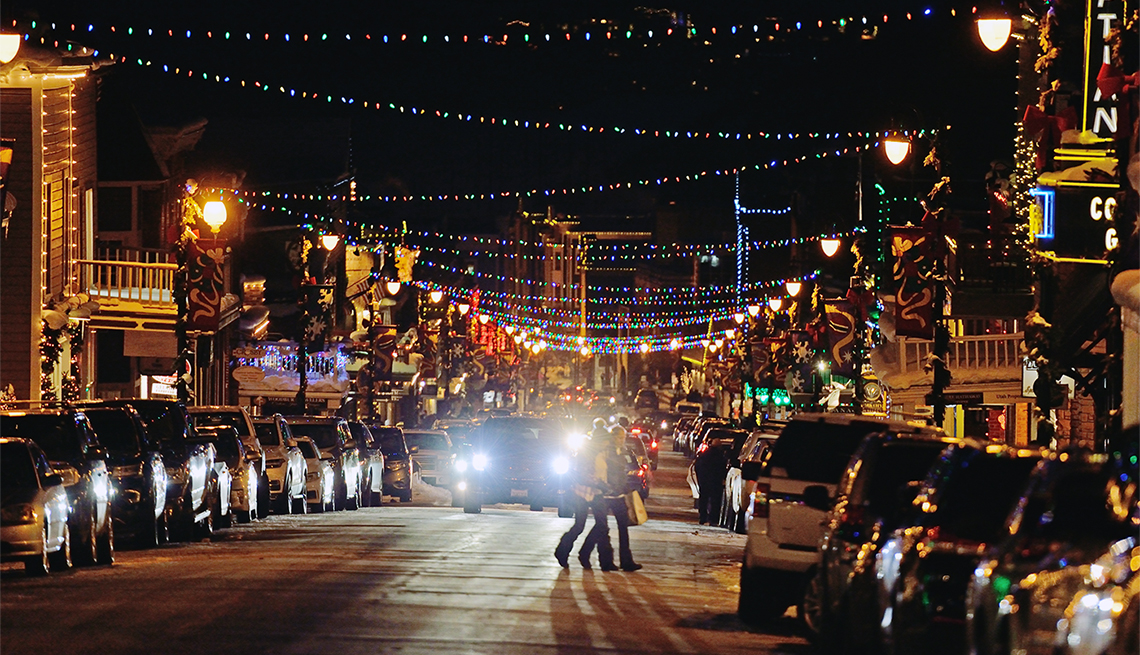 Decorated Main Street Park City