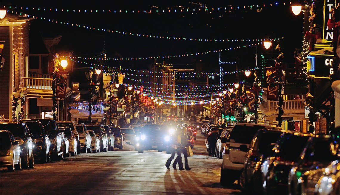 Decorated Main Street Park City