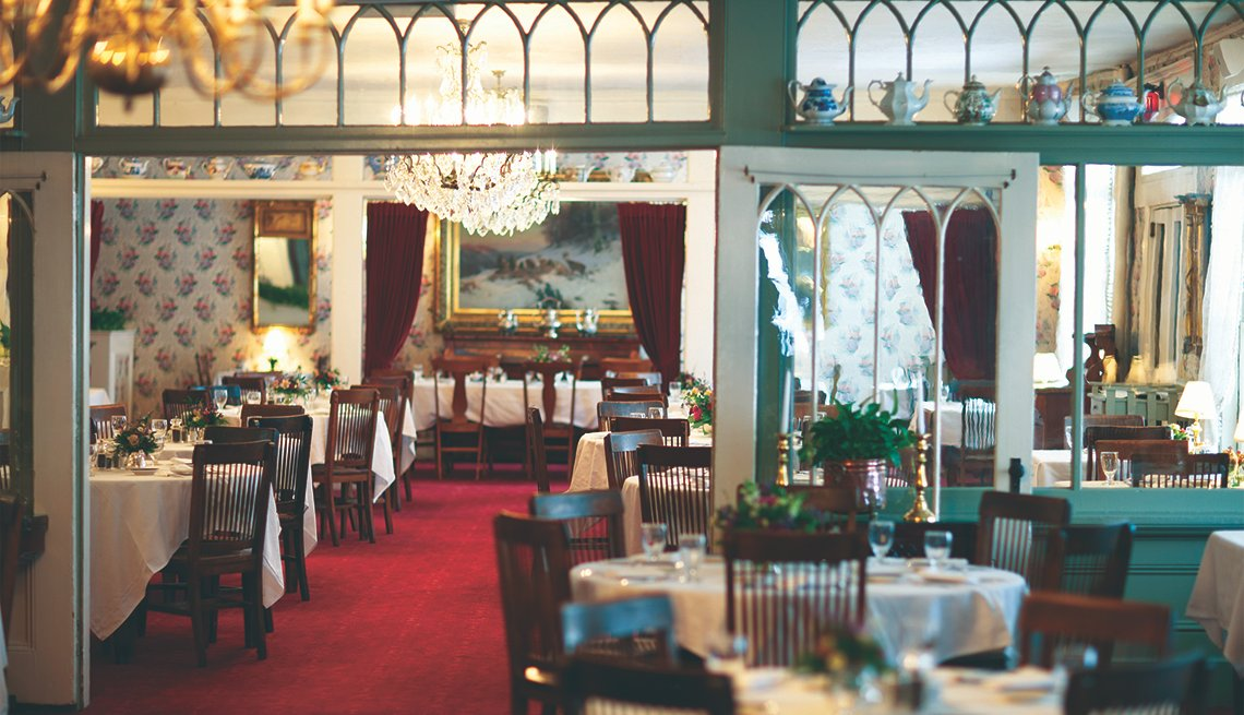 Interior of Dining Room at Red Lion Inn