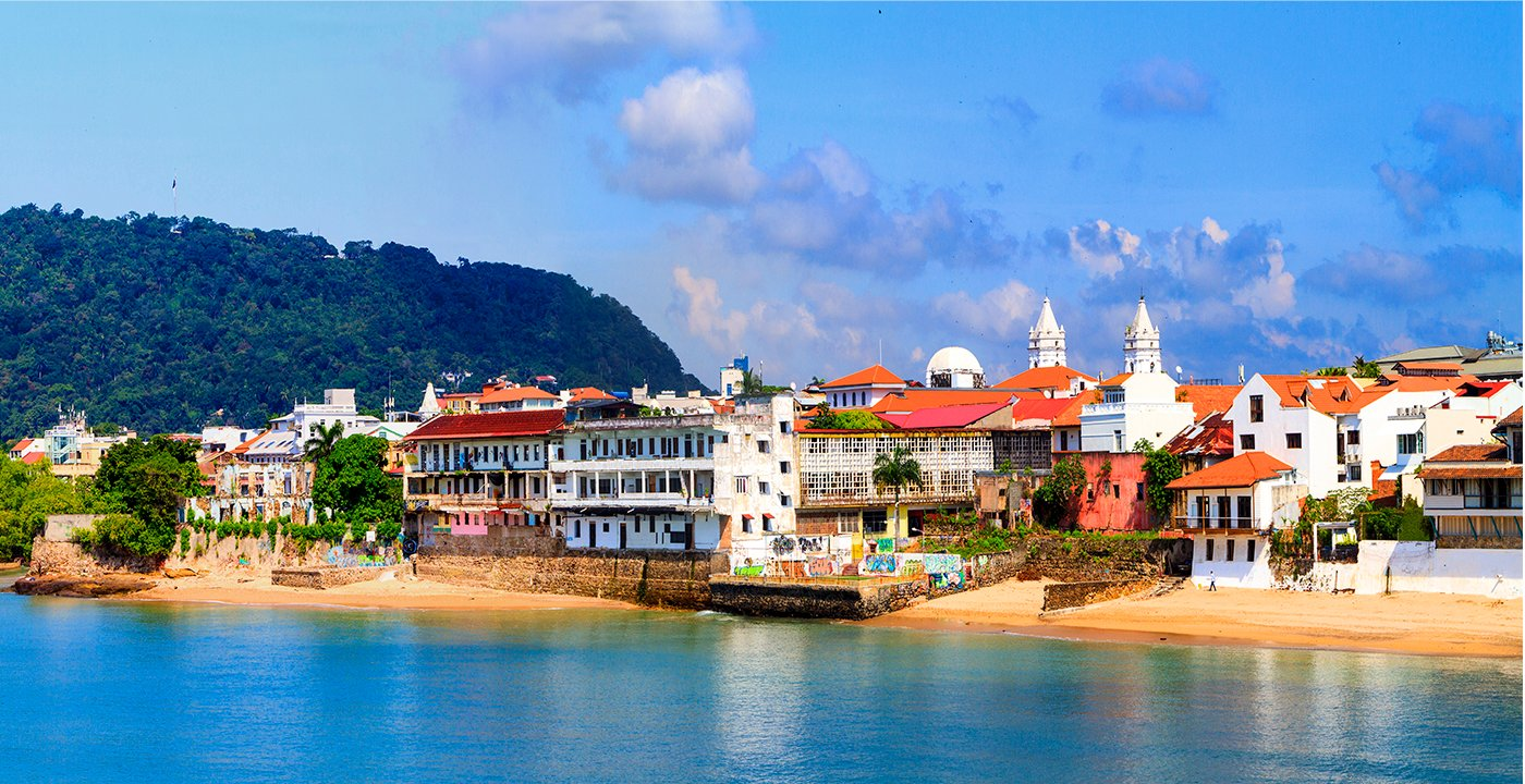 Panama City coastline