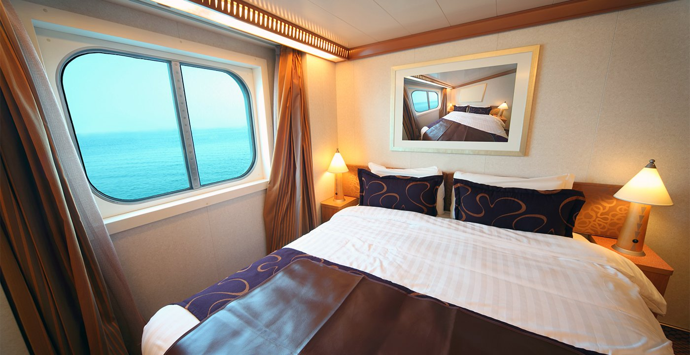Beautiful Ship Cabin With Big Double Bed And Window