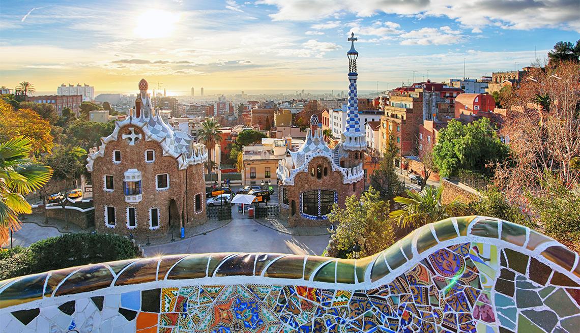 Vista desde Park Guell, en Barcelona España