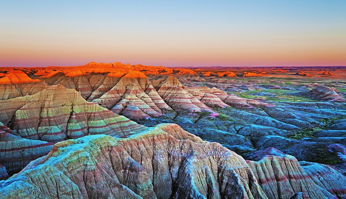 Imagen del parque nacional Badlands en Dakota del Sur