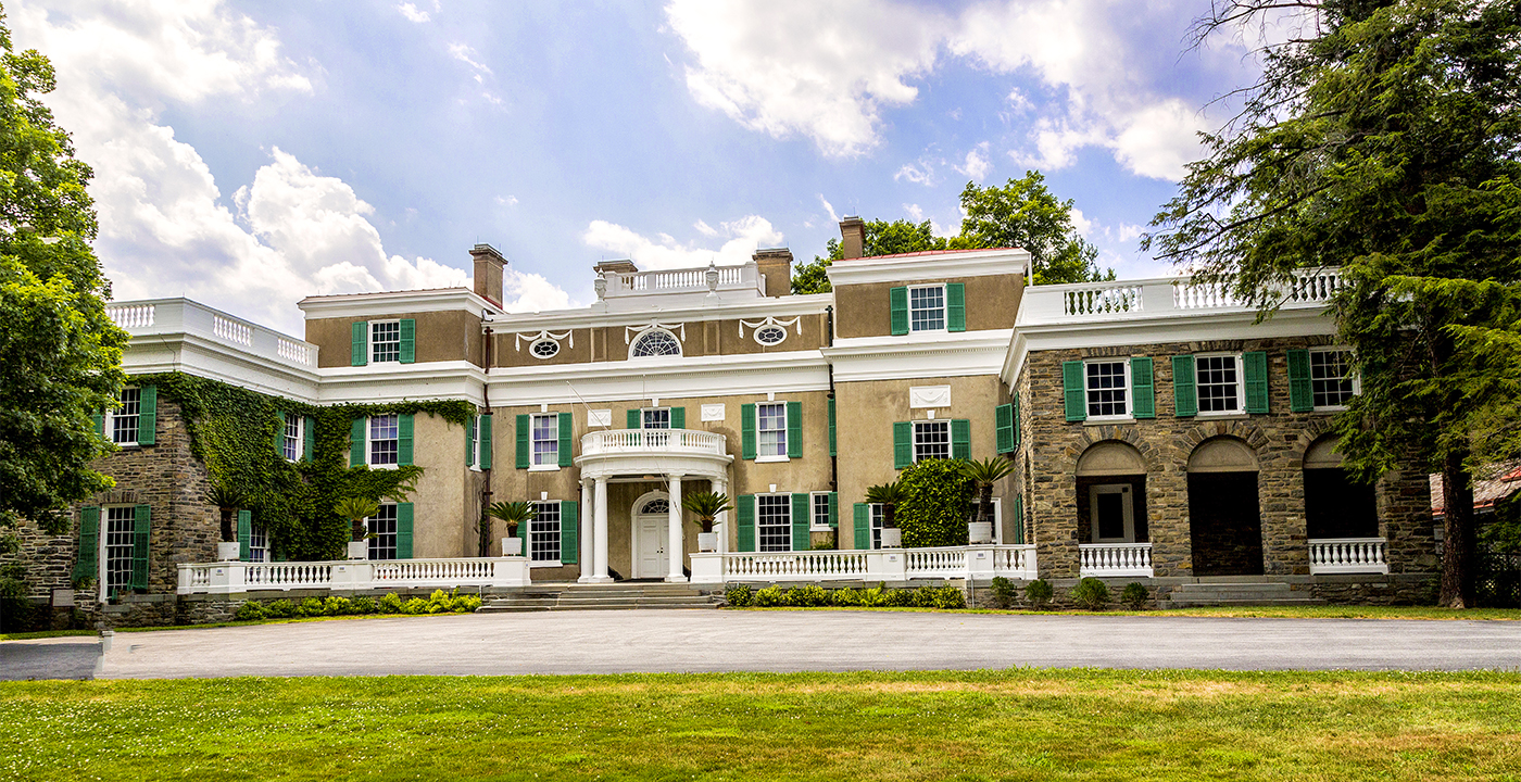 Franklin D Roosevelt's boyhood home in Hyde Park, NY