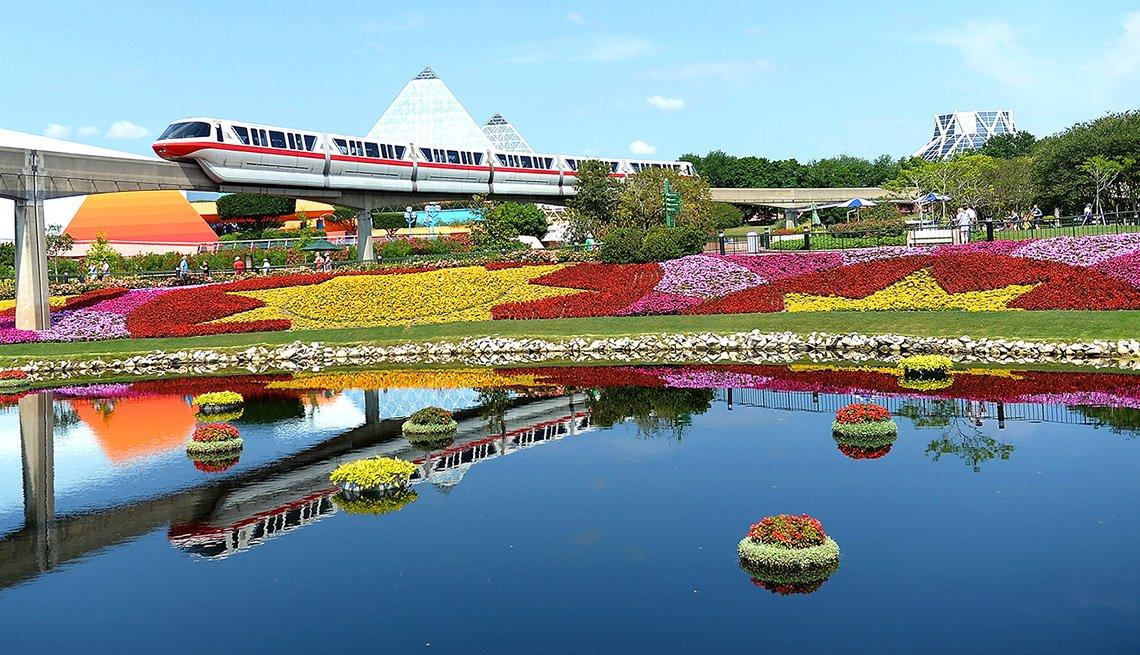 Panorámica del Festival Internacional de Flores y Jardines de Epcot en Walt Disney World