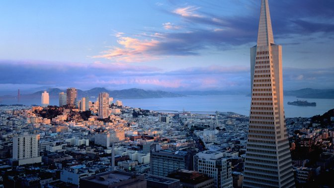 The Transamerica Pyramid in San Francisco is one of our favorite skyscrapers in America.