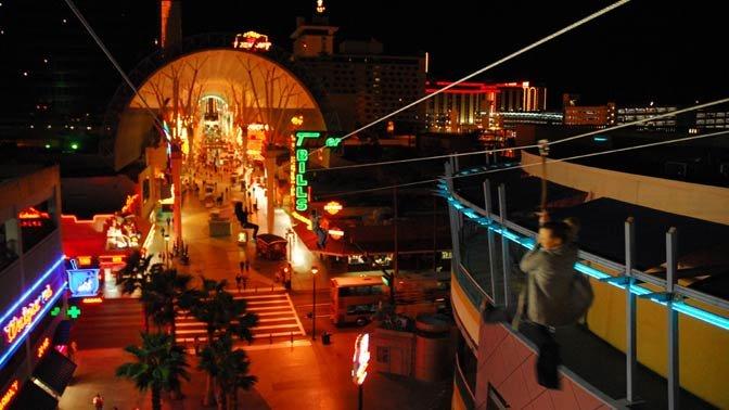 Fremont Street Flightlinez in downtown Las Vegas.