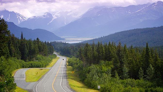 Seward Highway, Alaska — Anchorage to Portage Glacier (Mile Marker 78)