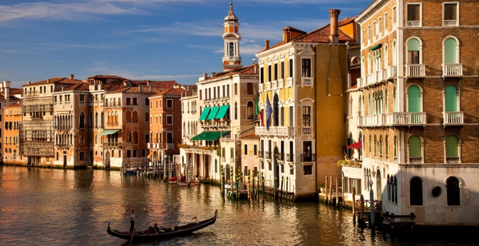 The Grand Canal in Venice, Italy