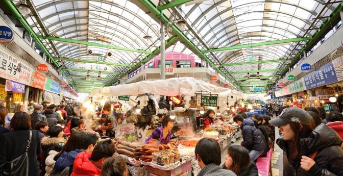 Gwangjang Market in Seoul, South Korea