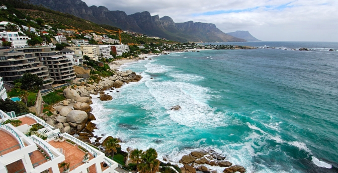 Seaside resort in Cape Town, South Africa