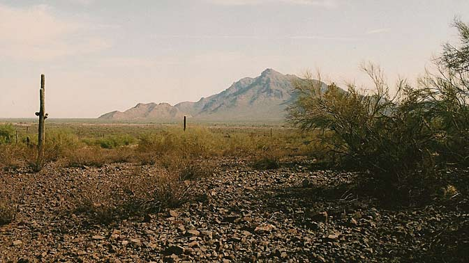 Picacho Pass Peak in Arizona, site of the westernmost battle of the Civil War.