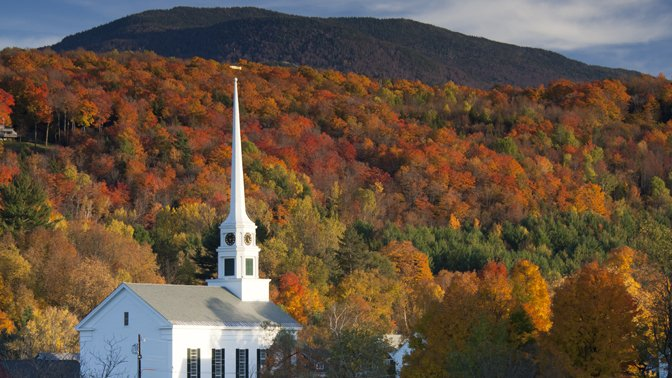 The glorious fall foliage in Vermont is legendary.