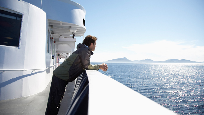 A fleet of 11 ferries services 32 ports along Alaska's spectacular coastline.