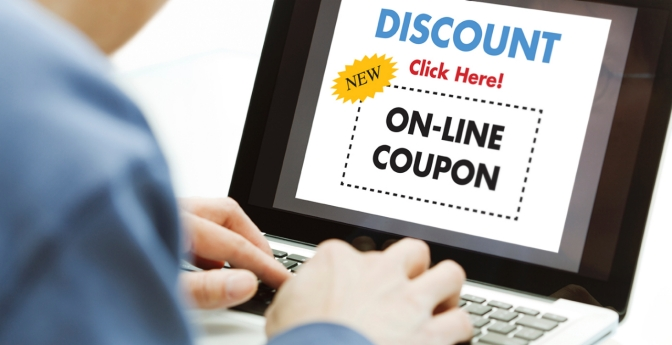 Search out online discounts and coupons