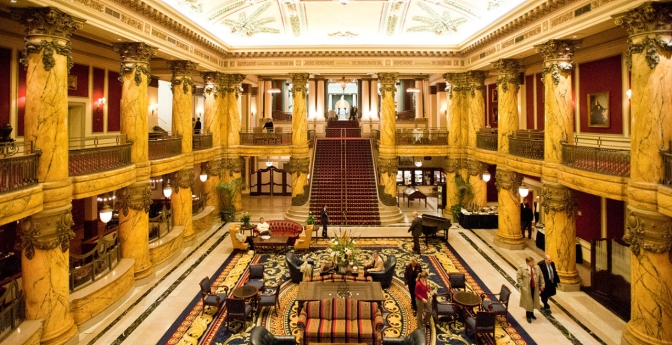 hotel lobbies with amazing foyers across america aarp. Black Bedroom Furniture Sets. Home Design Ideas