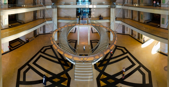 The Museum of Islamic Art in Doha, Qatar. Amazing staircases around the world.