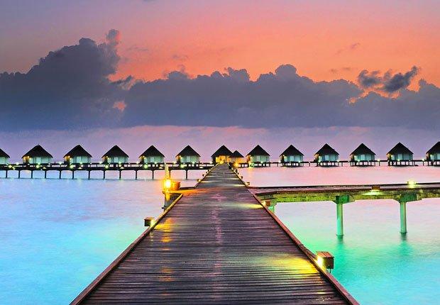 Chozas en el agua en Maldivas - Los mejores destinos para una luna de miel en el 2014