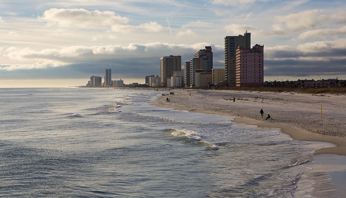 The beach in Gulf Shores, Alabama