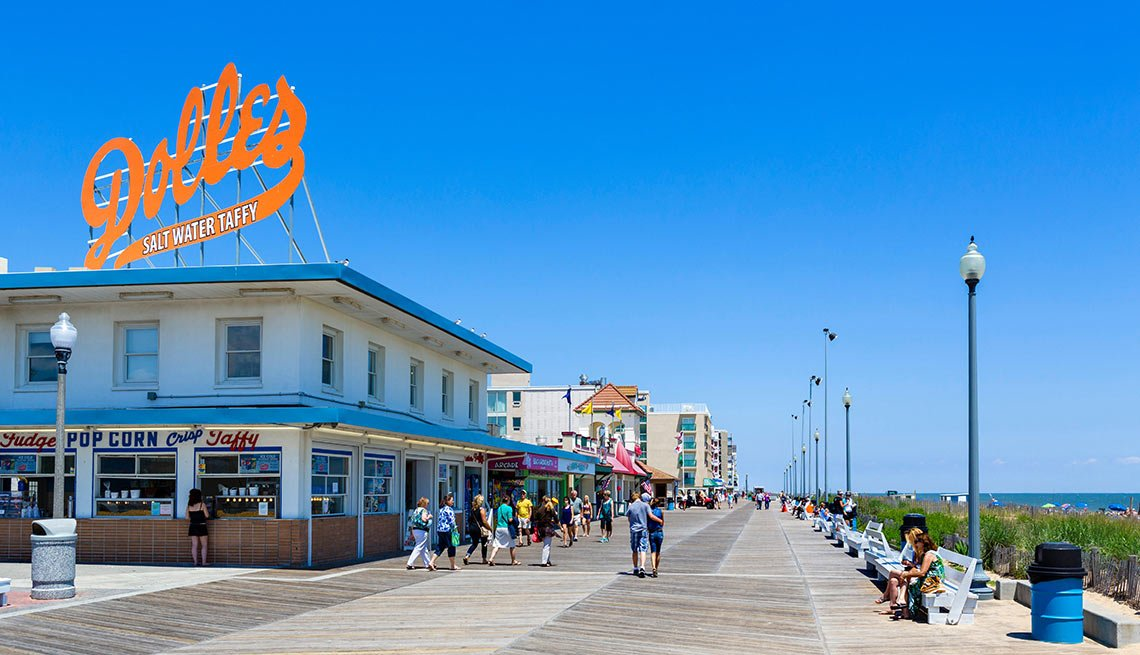 The boardwalk at Rehoboth Beach