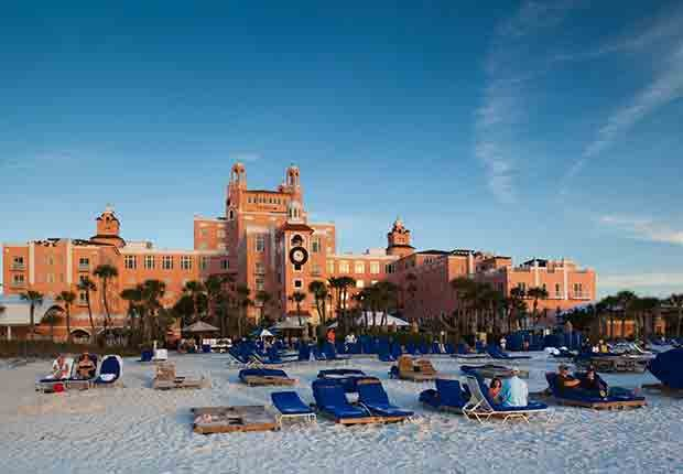 Ciudades costeras turísticas y económicas - St. Petersburg Beach, Don Cesar resort hotel