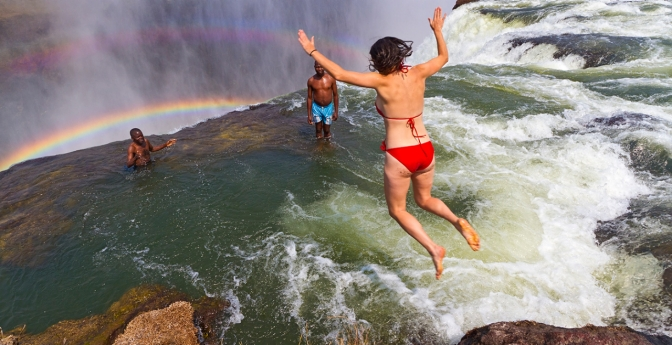 Take a Dip in Devil's Pool, Zambia