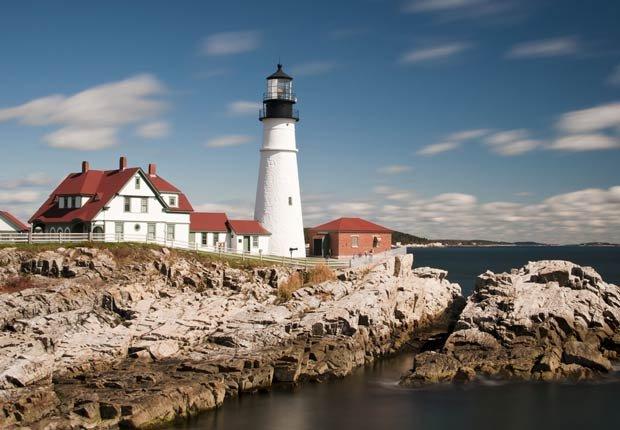 Faro principal de Portland en Maine, Nueva Inglaterra, EE.UU. - Los 10 mejores viajes por carretera en Estados Unidos