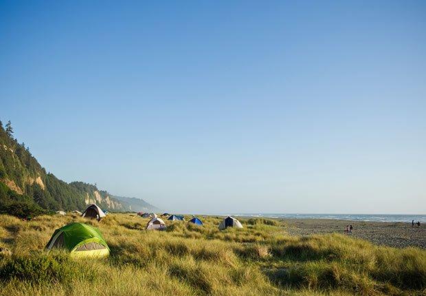 Playas recónditas en Estados Unidos - Gold Bluffs Beach