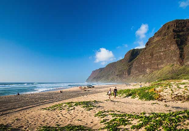 Polihale State Beach Park, Kauai, Hawaii.