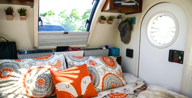 Inside of Teardrop Camper