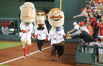 Carrera de los presidentes en un juego de baseball del equipo de Washington DC: los Nationals