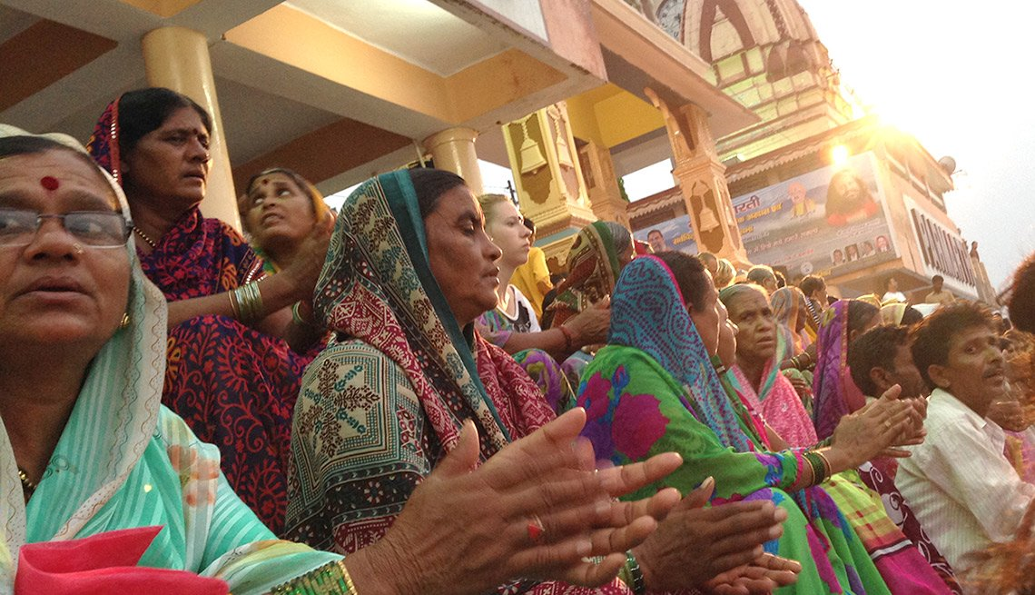 Life Changing Travel India Andrea Jarrell - Aarti Ceremony